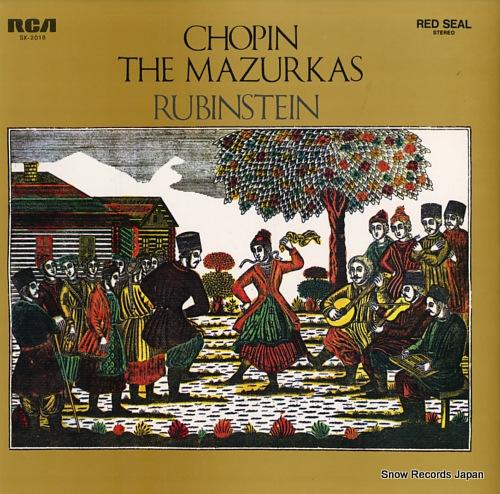 RUBINSTEIN, ARTUR chopin; the mazurkas SX-2018 - front cover