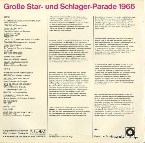 V/A grosse star-und schlager parade H023 - back cover