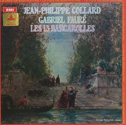 COLLARD, JEAN-PHILIPPE faure; les 13 barcarolles 2C069-11328 - front cover