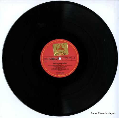 BEROFF, MICHEL / SEIJI OZAWA strawinsky; capriccio / mouvements / concerto 1C063-11698 - disc