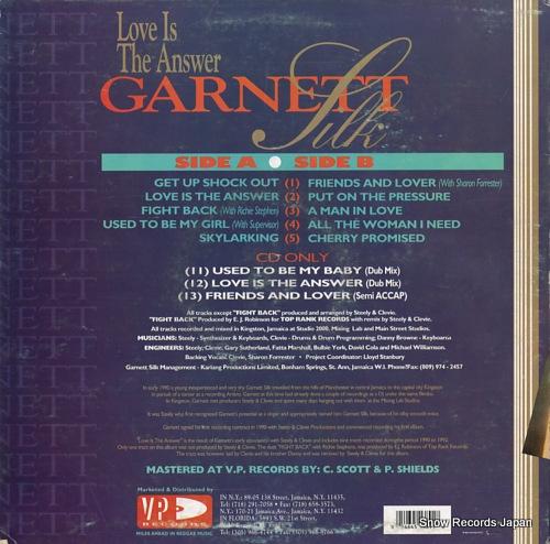 SILK, GARNETT love is the answer VPRL1389 - back cover