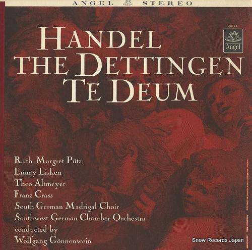 GONNENWEIN, WOLFGANG handel; the dettingen te deum 36194 - front cover