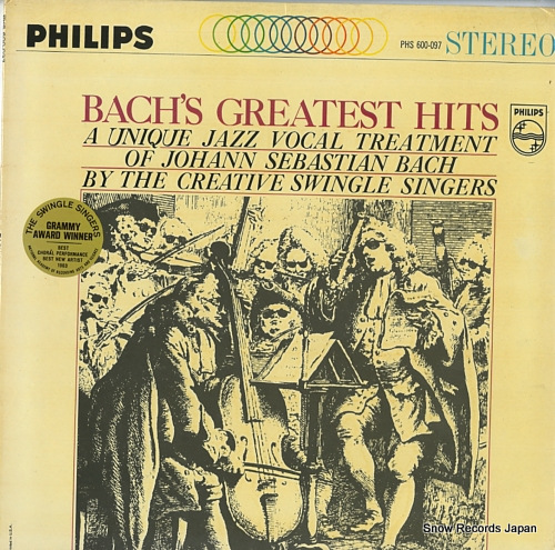 SWINGLE SINGERS, THE bach's greatetst hits PHS600-097 - front cover