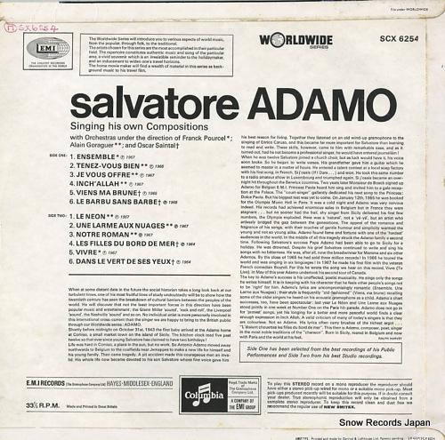 ADAMO, SALVATORE salvatore adamo SCX6254 - back cover