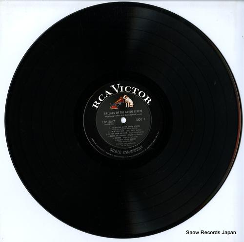 SSGT. BARRY SADLER ballads of the green berets LSP-3547 - disc