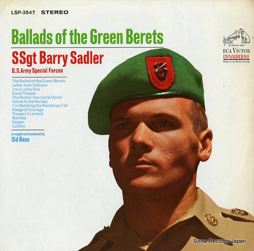 SSGT. BARRY SADLER ballads of the green berets LSP-3547 - front cover