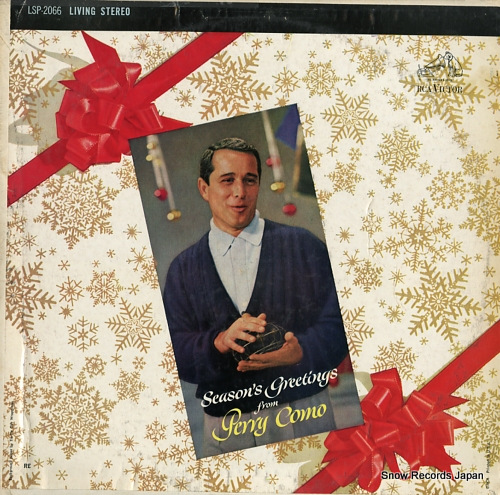 COMO, PERRY season's greetings from perry como LSP-2066 - front cover