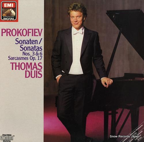 DUIS, THOMAS prokofiev; sonaten / sonatas nos.3 & 6 EL2705151 - front cover