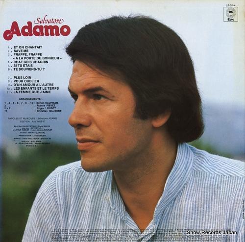 ADAMO salvatore adamo 25.3P-4 - back cover