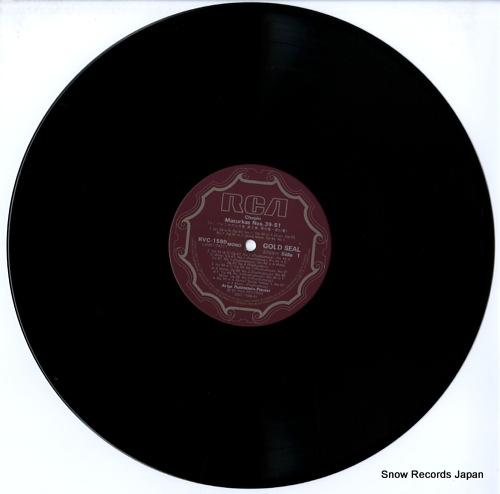 RUBINSTEIN, ARTUR chopin; mazurkas volume 3 and others RVC-1599 - disc
