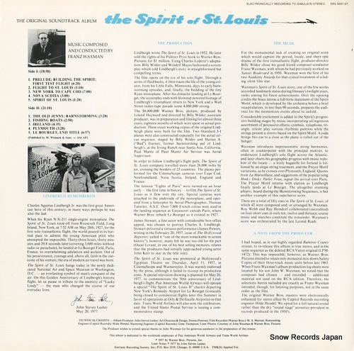 WAXMAN, FRANZ the spirit of st.louis ERS6507-ST - back cover