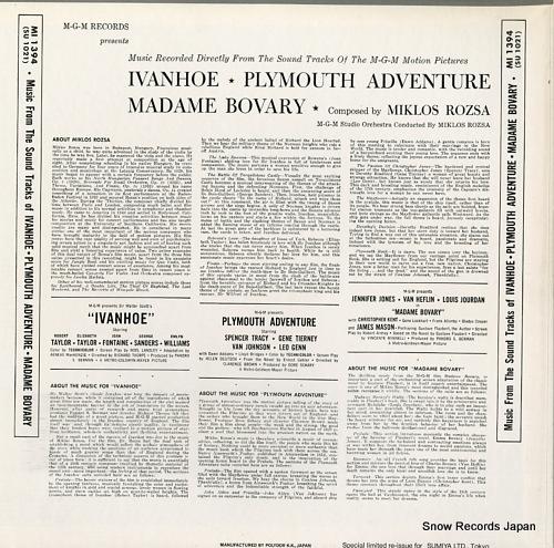 ROZSA, MIKLOS ivanhoe / plymouth adventure / madame bovary MI1394/SU1021 - back cover