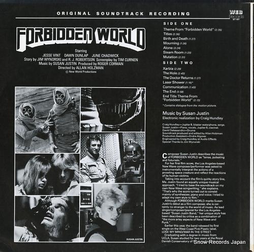 JUSTIN, SUSAN forbidden world ST107 - back cover