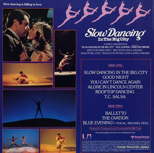 CONTI, BILL slow dancing in the big city UA-LA939-H - back cover