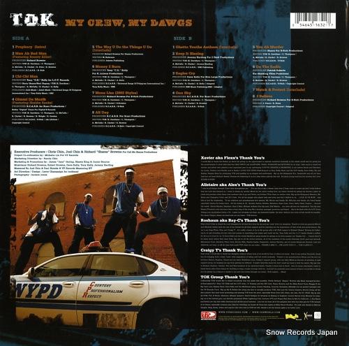 T.O.K. my crew, my dawgs VPRL1632 - back cover