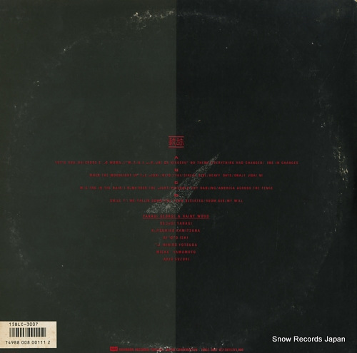 YANAGI, GEORGE, AND RAINY WOOD kiseki 15BLC-3007-8 - back cover