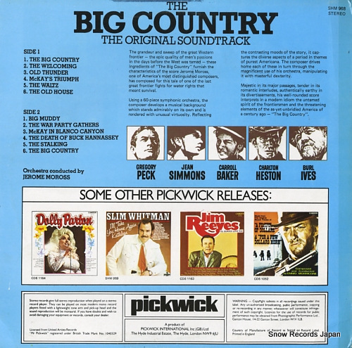 MOROSS, JEROME the big country SHM968 - back cover