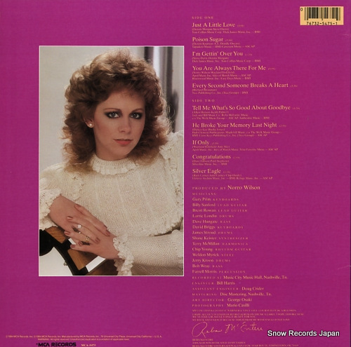 MCENTIRE, REBA just a little love MCA-957 - back cover