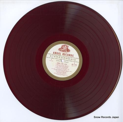 SCHWARZKOPF, ELISABETH songs you love AA-7345 - disc