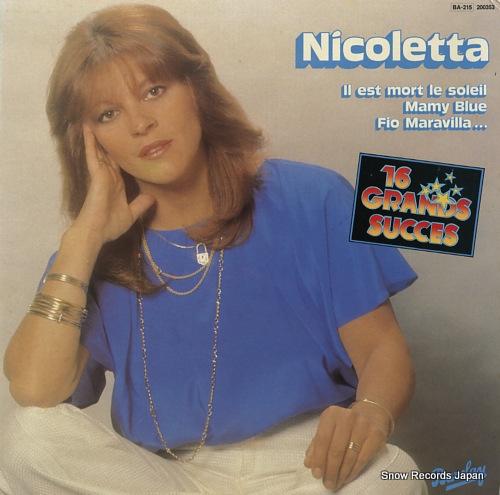 NICOLETTA nicoletta 200.353 - front cover