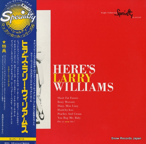WILLIAMS, LARRY here's larry williams SL-5075-SP - front cover
