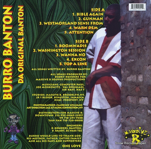 BANTON, BURRO da original banton MB55-1 - back cover