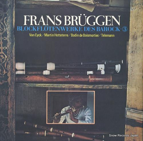 BRUGGEN, FRANS blockflotenwerke des barock-3 SLA(T)1049 - back cover