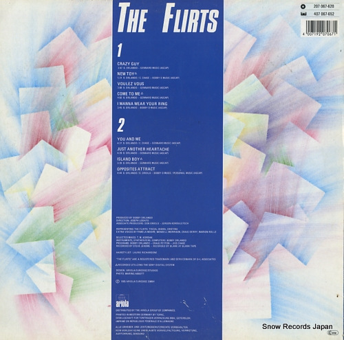 FLIRTS, THE the flirts 207067 - back cover