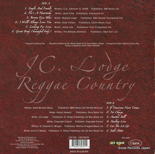 LODGE, JC reggae country CRLP3079 - back cover
