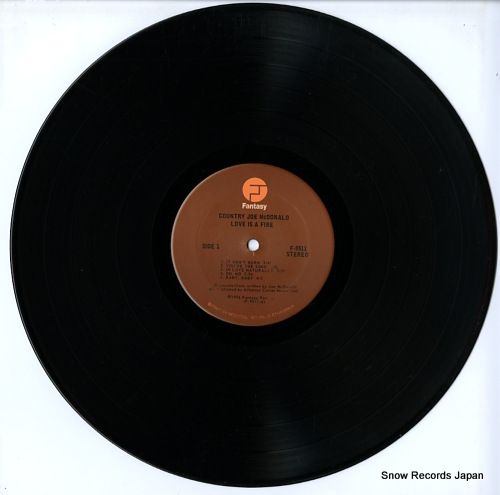 MCDONALD, COUNTRY JOE love is a fire F-9511 - disc