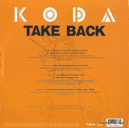KODA, KUMI take back 75766-70486-1-5 - back cover