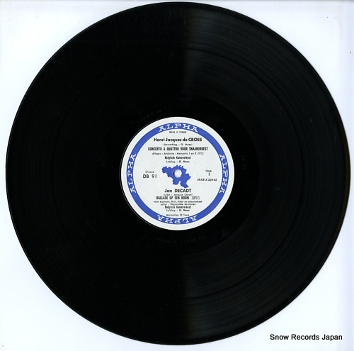 MAES, GEORGES henri jacques de croes; concerto a quattro voor snaarorkest DB91 - disc