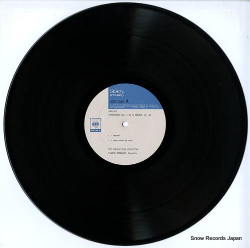 ORMANDY, EUGENE sibelius; symphony no.2 SOCF22005 - disc