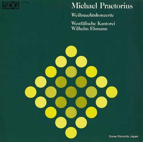 EHMANN, WILHELM michael praetorius; weihnachtskonzerte SDG610909 - front cover