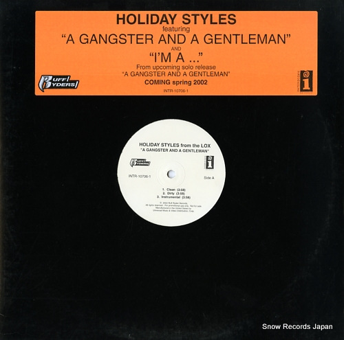 HOLIDAY STYLES a gangster and a gentleman / i'm a... INTR-10706-1 - front cover
