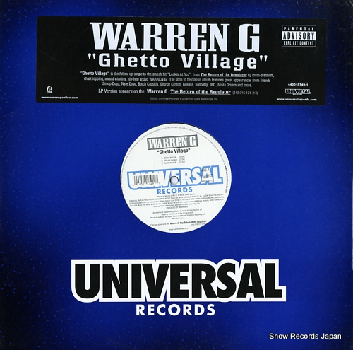 WARREN G ghetto village 440015749-1 - front cover