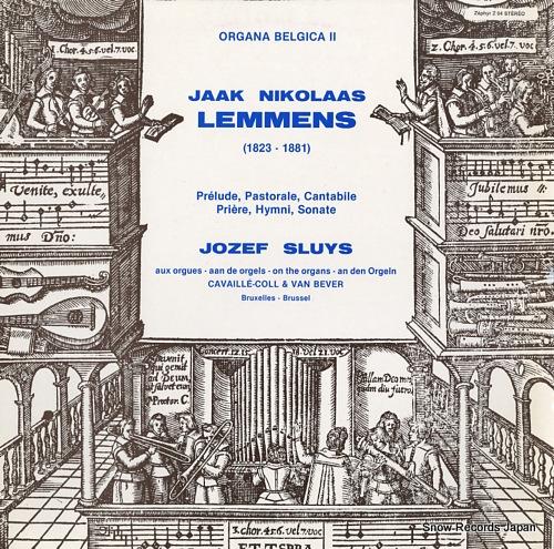 SLUYS, JOZEF jaak nikolaas lemmens; organa belgica ii Z04 - front cover