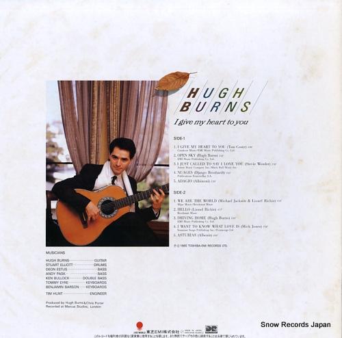 BURNS, HUGH i give my heart to you EWS-91138 - back cover