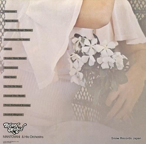 MANTOVANI relax music mantovani best album SLC9005 - back cover