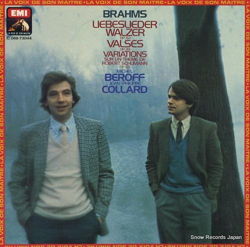 BEROFF, MICHEL / JEAN-PHILIPPE COLLARD brahms; liebeslieder walzer op.52 2C069-73044 - front cover