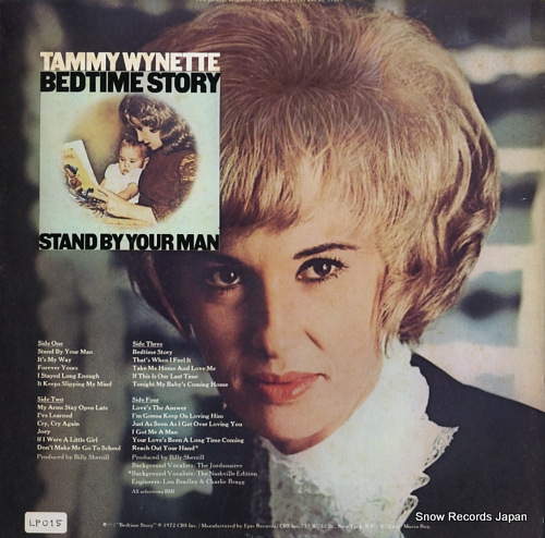 WYNETTE, TAMMY stand by your man / bedtime story EG33773 - back cover