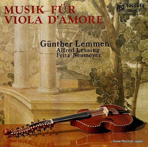 LEMMEN, GUNTHER musik fur viola d'amore FSM53624 - front cover