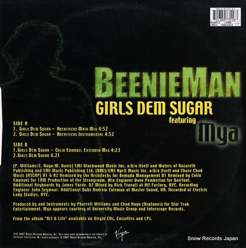MAN, BEENIE girls dem sugar VVST173 - back cover