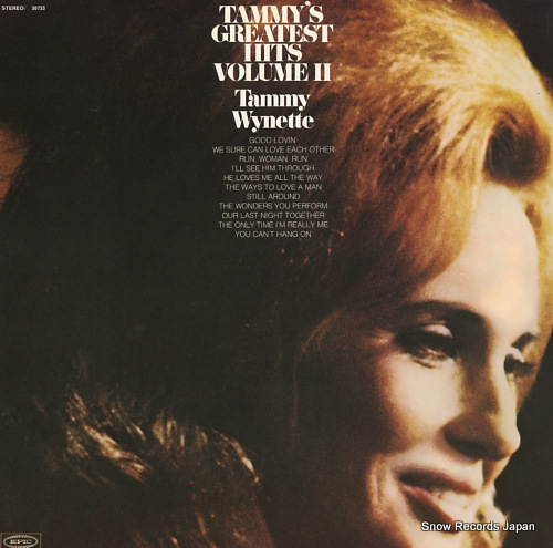 WYNETTE, TAMMY tommy's greatest hits volume ii PE30733 - front cover