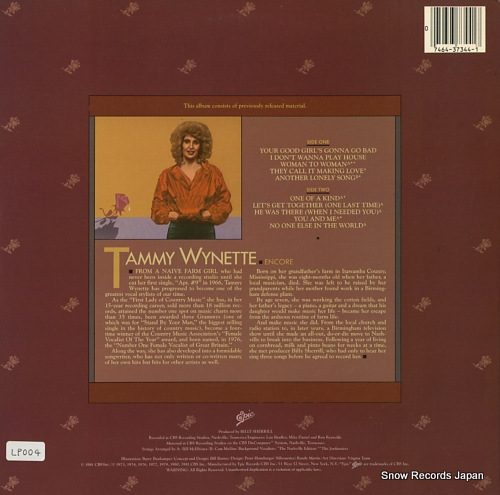 WYNETTE, TAMMY encore PE37344 - back cover