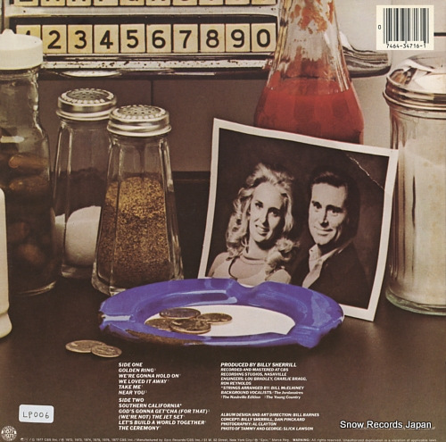 JONES, GEORGE, AND TOMMY WYNETTE greatest hits PE34716 - back cover