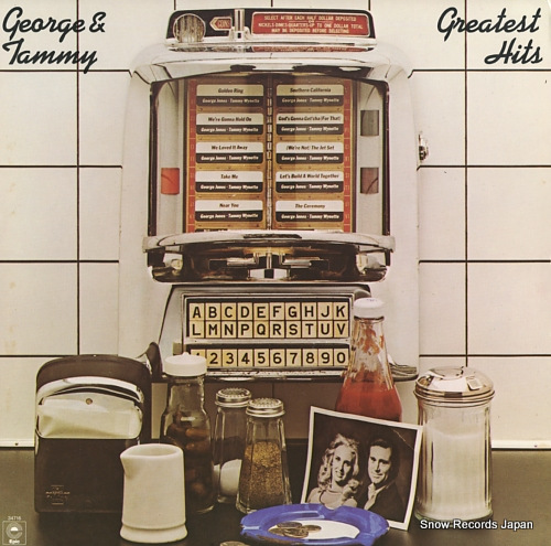 JONES, GEORGE, AND TOMMY WYNETTE greatest hits PE34716 - front cover