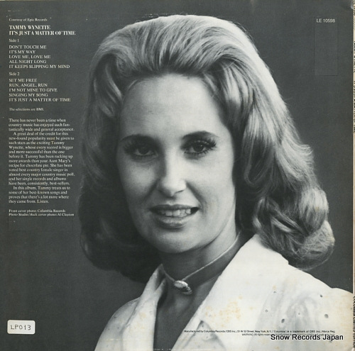 WYNETTE, TAMMY it's just a matter of time LE10598 - back cover