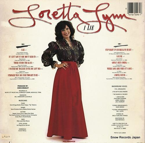 LYNN, LORETTA i lie MCA-5293 - back cover