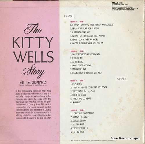 WELLS, KITTY the kitty wells story MCA2-4031 - back cover